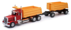 Peterbilt 379 Dump Truck with Dump Trailer at diecastdepot