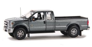 2016 Ford F250 XLT Pickup Truck with Super Cab & 8' Bed in Gray at diecastdepot