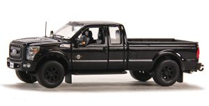2016 Ford F250 XLT Pickup Truck with Super Cab & 8' Bed - Black / Black at diecastdepot