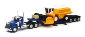 Kenworth W900 Lowboy with Combine Harvester at diecastdepot