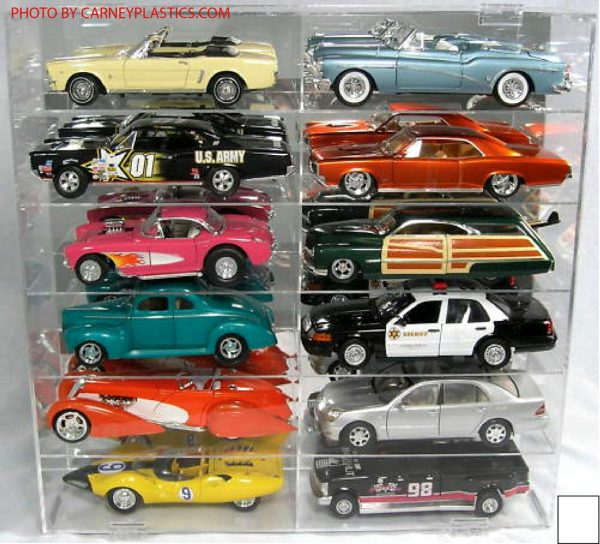 Display Case for 1:18 Scale Holds 12 Cars at diecastdepot