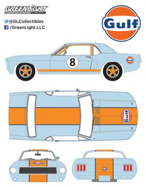 1967 Ford Mustang Coupe - Gulf Oil at diecastdepot