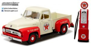1953 Ford F-100 Texaco with Vintage Texaco Gas Pump at diecastdepot