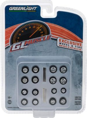 GL Muscle Wheel & Tire Pack - 16 Wheels, 16 Tires, 8 Axles at diecastdepot