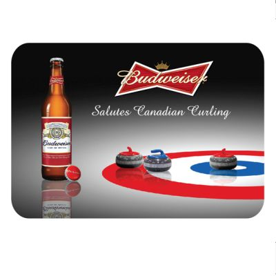 Curling - Budweiser Embossed Tin Sign at diecastdepot