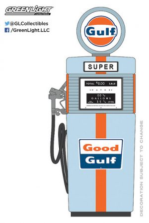 1951 Wayne 505 Gas Pump Gulf Oil - Vintage Gas Pump Collection at diecastdepot