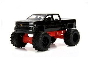 2014 Chevrolet Silverado Pick Up Truck - Just Trucks Wave 17 - black at diecastdepot