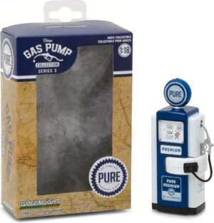 """1948 Wayne 100-A Gas Pump Pure Oil """"Pure Premium Be Sure With Pure"""" -Vintage Gas Pumps Series 3 at diecastdepot"""