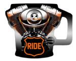 RIDE Bike Engine Mug- Sculpted 6ct at diecastdepot