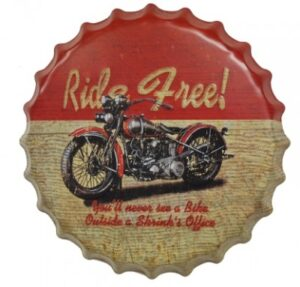 Bottle Cap Sign - Ride Free at diecastdepot