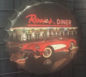 "Rosie's Dinner Bottle Cap Sign- 16"" at diecastdepot"