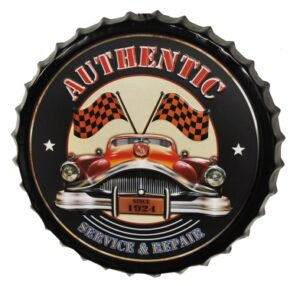 "Authentic Bottle Cap Sign- 19"" at diecastdepot"