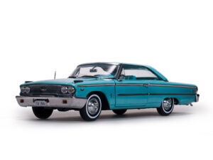 1963 Ford Galaxie 500 XL Hardtop- Peacock Blue at diecastdepot