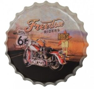 "Bottle Cap 16"" Sign - Freedom Riders at diecastdepot"