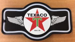 "TEXACO LED Sign - 17"" Marque Shaped at diecastdepot"