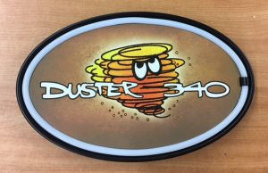 PLYMOUTH DUSTER 340 LED SIGN at diecastdepot