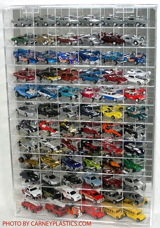 Display Case for 1:64 Scale that holds 72 Cars- Side Angle at diecastdepot