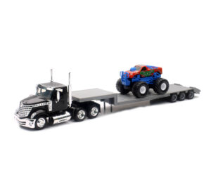 International Lonestar Lowboy W/ Monster Truck at diecastdepot