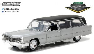 1966 Cadillac Limousine - Silver with black roof at diecastdepot