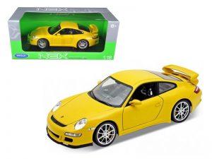 Porsche 911 (997) GT3 - yellow at diecastdepot