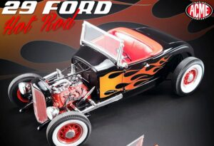 1929 Ford Hot Rod - Black with Flames at diecastdepot