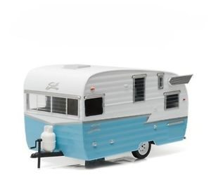 "Shasta 15"" Airflyte Trailer - blue at diecastdepot"