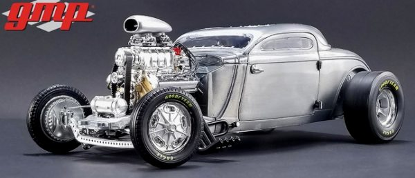 1934 Blown Altered Coupe - Raw Steel at diecastdepot