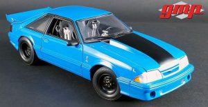 "1993 Ford Mustang KING SNAKE ""1320 Series"" Drag Car - Blue at diecastdepot"