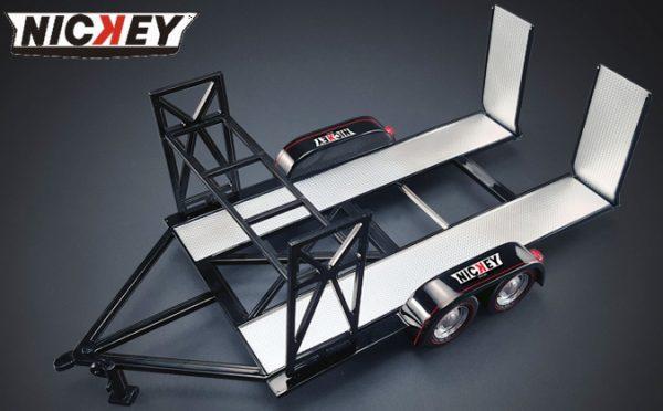Nickey Chevrolet 1:18 Tandem Car Trailer at diecastdepot