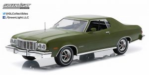 1976 Ford Gran Torino - Dark Green Metallic -Artisan Collection at diecastdepot