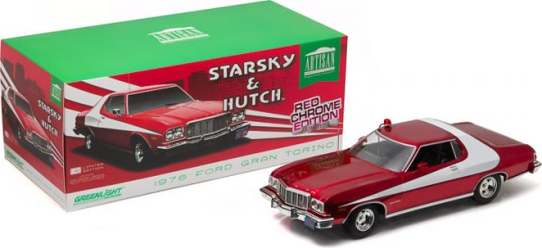 Starsky and Hutch (TV Series 1975-79) - 1976 Ford Gran Torino - Red Chrome Edition at diecastdepot