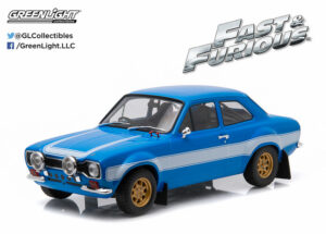 1974 Ford Escort RS2000 Mk1 - Blue w-White Stripes -Fast and Furious 6 (2013) - at diecastdepot