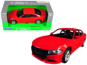 2016 Dodge Charger RT - RED at diecastdepot
