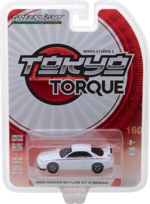 2001 Nissan Skyline GT-R (R34) - White Pearl - Tokyo Torque Series 2 - at diecastdepot