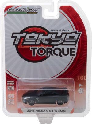 2015 Nissan GT-R (R35) - Matte Black-Tokyo Torque Series 2 - at diecastdepot