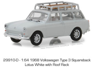 1968 Volkswagen Type-3 Squareback in Lotus White with Roof Rack - Estate Wagons Series 1 at diecastdepot