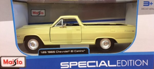 1965 Chevrolet El Camino - yellow at diecastdepot