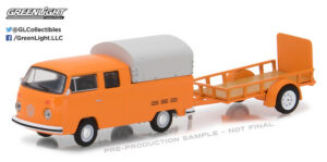 1978 Volkswagen Type 2 Double Cab Pickup with Utility Trailer at diecastdepot