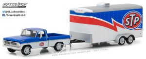 1970 Ford F-100 and Enclosed Car Trailer - STP Racing (Hitch & Tow Series 12) at diecastdepot