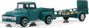 1954 Ford F-100 and Utility Trailer- Hitch & Tow Series 13 at diecastdepot