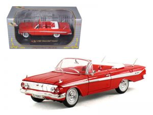 1961 CHEVY IMPALA CONVERTIBILE - RED at diecastdepot