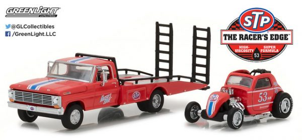 1968 Ford F-350 Ramp Truck with Topo Fuel Altered Drag Car - STP at diecastdepot