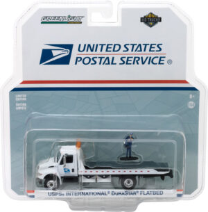 2013 International Durastar Flatbed United States Postal Service (USPS) with USPS Mailman Figure- H.D. Trucks Series 11 at diecastdepot