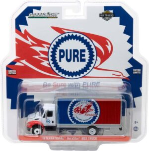 2013 International Durastar Box Van Pure Oil Co. Firebird Racing Gasoline-  H.D. Trucks Series 11 at diecastdepot