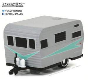 1958 SIESTA TRAVEL TRAILER (SILVER) - HITCHED HOMES SERIES 2 at diecastdepot