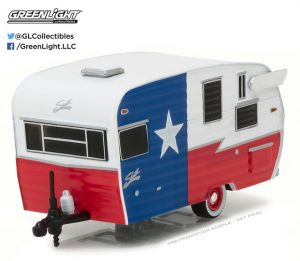 SHASTA 15' AIRFLYTE (RED, WHITE AND BLUE)-HITCHED HOMES SERIES 2 at diecastdepot