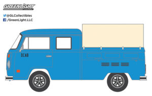 Volkswagen T2 Doka Crew Cab with Canopy - BLUE COLLAR COLLECTION SERIES 2 at diecastdepot