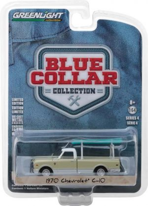 1970 Chevy C-10 with Ladder Rack-Blue Collar Collection Series 4 at diecastdepot