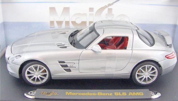2010 Mercedes SLS AMG - Silver at diecastdepot