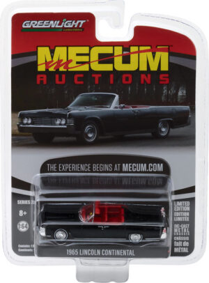 1965 Lincoln Continental Convertible - Black (Indianapolis 2016) - Mecum Auctions Collector Cars Series 2 - at diecastdepot